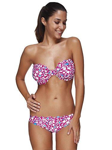 fascia sexy barone Hong colore bikini Due donne del a pezzi bikini wq4T14