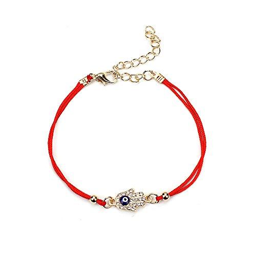 Protection Hamsa Bracelet (MEIBEADS Red String Evil Eye Hamsa Hand gifts Bracelets for women (hamsa hand))