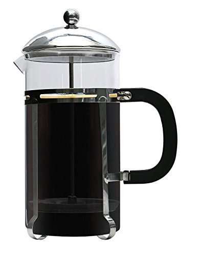 Premium French Coffee Press By Brewsentials.com - 1L Carafe Brewer - Custom Filter Design - Heat Resistant Glass - Brewing Essentials For Java Lovers