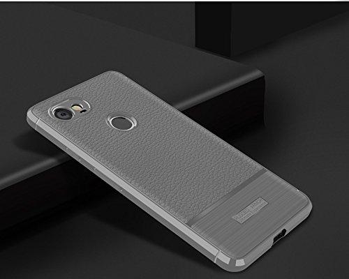 Funda Google Pixel2 XL,Funda Fibra de carbono Alta Calidad Anti-Rasguño y Resistente Huellas Dactilares Totalmente Protectora Caso de Cuero Cover Case Adecuado para el Google Pixel2 XL B