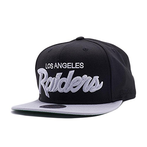 a02bbd0ebcf Mitchell   Ness Los Angeles Raiders Black Vintage Script N.W.A ...