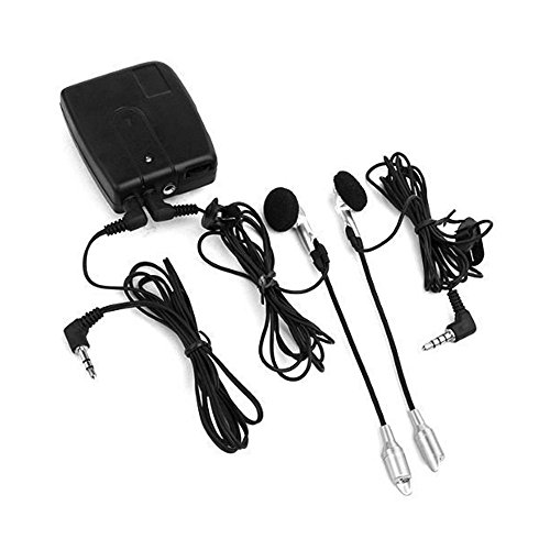 abcGoodefg Helmet to Helmet, Rider to Rider/Passenger Motorcycle Intercom Communication System Two Way Radio - Connect to MP3/iPod/iTouch/Nano/CD Audio (Bike Intercom Radio)