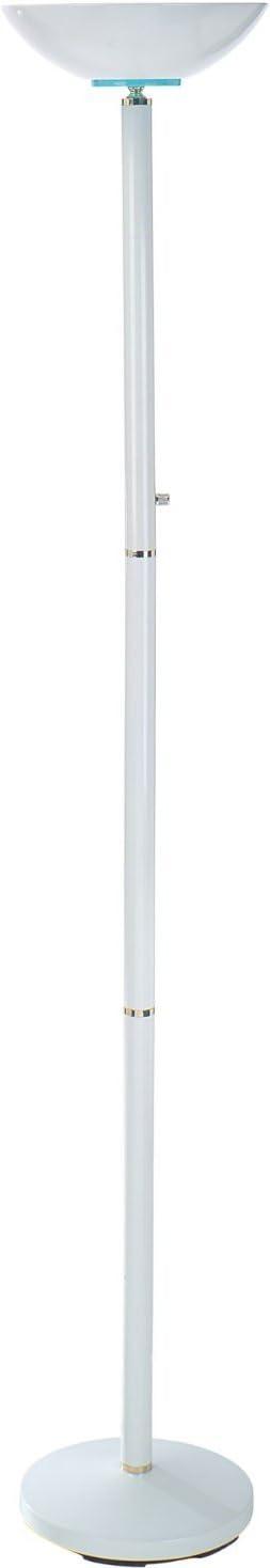 S.H. International Single Bulb Hi- Lo Switch Floor Lamp – White