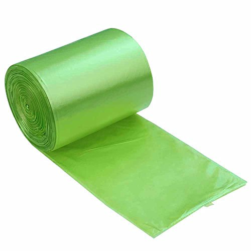 - Kekow 13 Gallon Kitchen Trash Bags, Green, 125 Counts