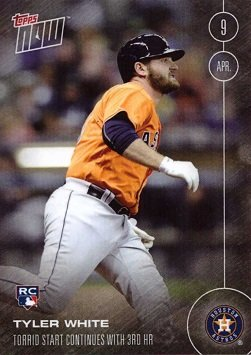 2016 Topps Now Baseball 11 Tyler White Rookie Card Houston Astros His 1st Official Rookie Card Only 1350 Made