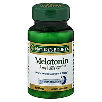 Natures Bounty Melatonin 1 mg Tablets, 180 Count