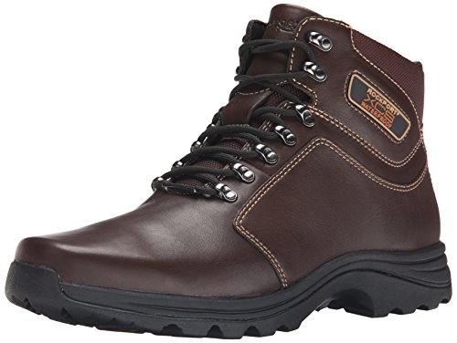 Rockport Men's Elkhart Snow Boot-Dark Brown/Black-10.5  - Athletic Leather Boots Snow