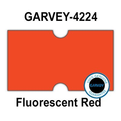 240,000 Genuine GARVEY 2112 FL Red General Purpose Labels: Full case - no Security cuts [Compatible w/Motex MX-5500, Towa 1 Line, Jolly, Hallo, Freedom and Impressa 2112 Punch Hole (PH) ()