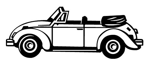 - VW Bug Decal Sticker - Peel and Stick Sticker Graphic - - Auto, Wall, Laptop, Cell, Truck Sticker for Windows, Cars, Trucks