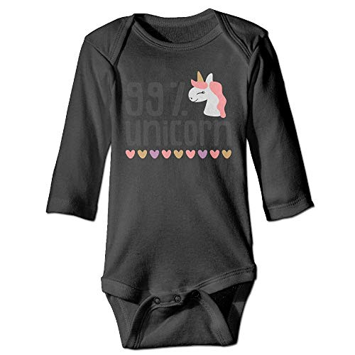 RainSea Unisex Baby 99 Percents Unicorn Long-Sleeve Bodysuits -