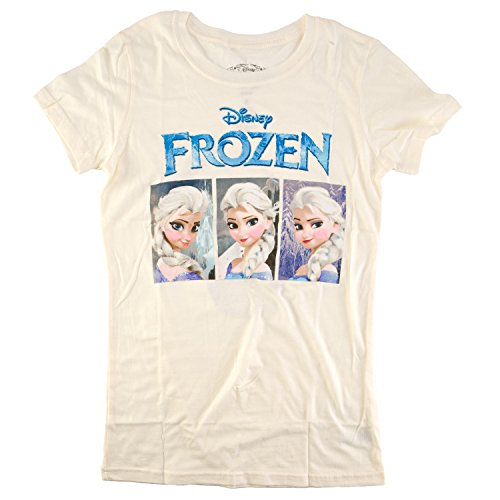 - Frozen Elsa Trio Boxes Disney Animated Movie Mighty Fine Juniors T-Shirt Tee