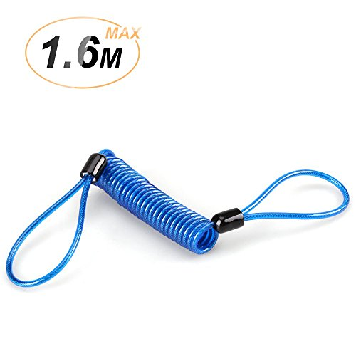 - AGPTEK Disc Lock Cable, Security Spring Reminder Cable for Motorcycle Scooter Bike Brake Disc Handlebar Theft Protection, Blue