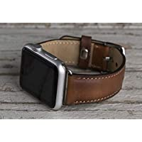 Genuine Leather Brown Apple Watch band, 42mm, 38mm, 40mm, 44mm for series 1-2-3-4