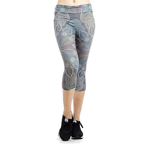 GYXYYF Yoga-Kleidung Sport Yoga-Kleidung Herbst Und Winter Frauenselbstkultivierung Hochelastische Dünne Und Schnell Trocknende Druck Yoga Fitness-Hosen