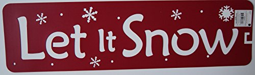 Burgundy Christmas Let it Snow Stencil - 22