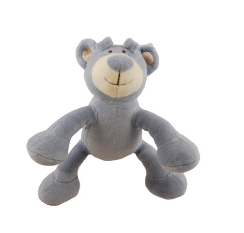 Simply Fido Wally 6-Inch Petite Blue Bear Squeaker Dog Toy, My Pet Supplies