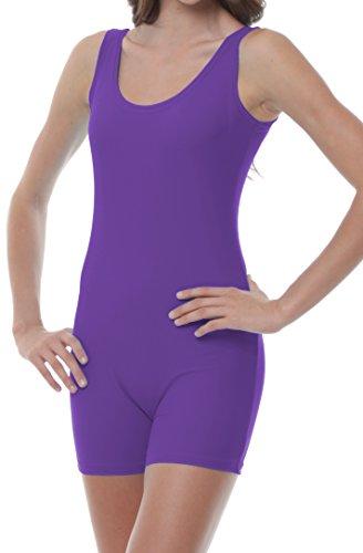 Womens Biketard Large Purple by B Dancewear Adult Sizes