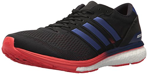 adidas Men's Adizero Boston 6 m Running Shoe, Core Black/Real Purple/Hi-Res Red, 11 M US