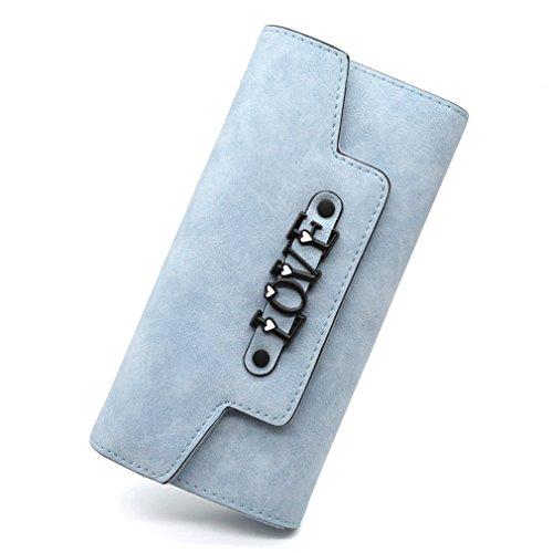 De Femme À Sac Hasp main De à Mode Haoling Femmes Cartes L Mesdames Blue Main Sacs En Embrayage Et Cuir Portefeuilles Portefeuille Femme Porte xYIqw6F