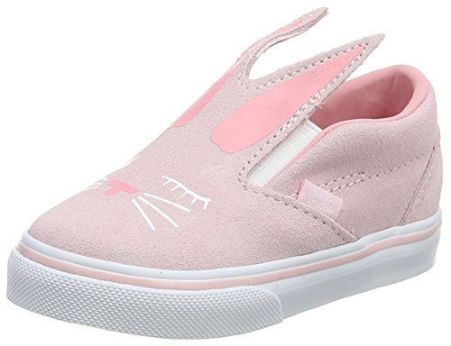 Vans Girls Bunny Slip On Skate Shoes (5.5 M US Toddler, (Bunny) Chalk Pink/True White) ()