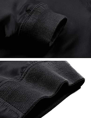 TACVASEN Men's Jacket-Lightweight Casual Spring Fall Thin Bomber Zip Pockets Coat Outwear