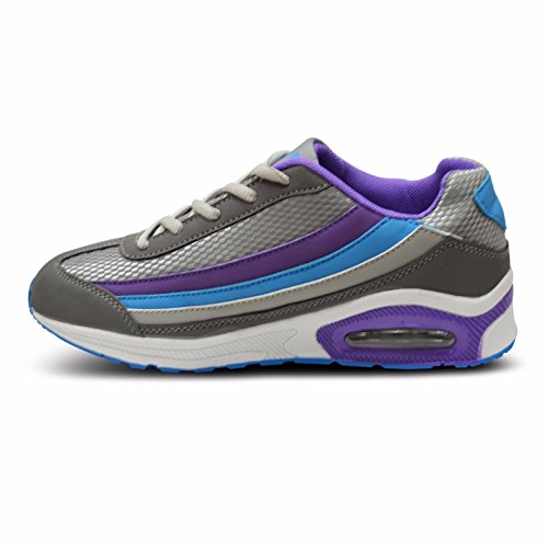 gris gimnasio 3 deportivos 8 amortiguador zapatos azul gimnasio rosado entrenadores mujer corriendo Para púrpura tamaño damas blanco vURnaq