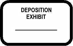 DEPOSITION EXHIBIT Labels Stickers White 492 per pack