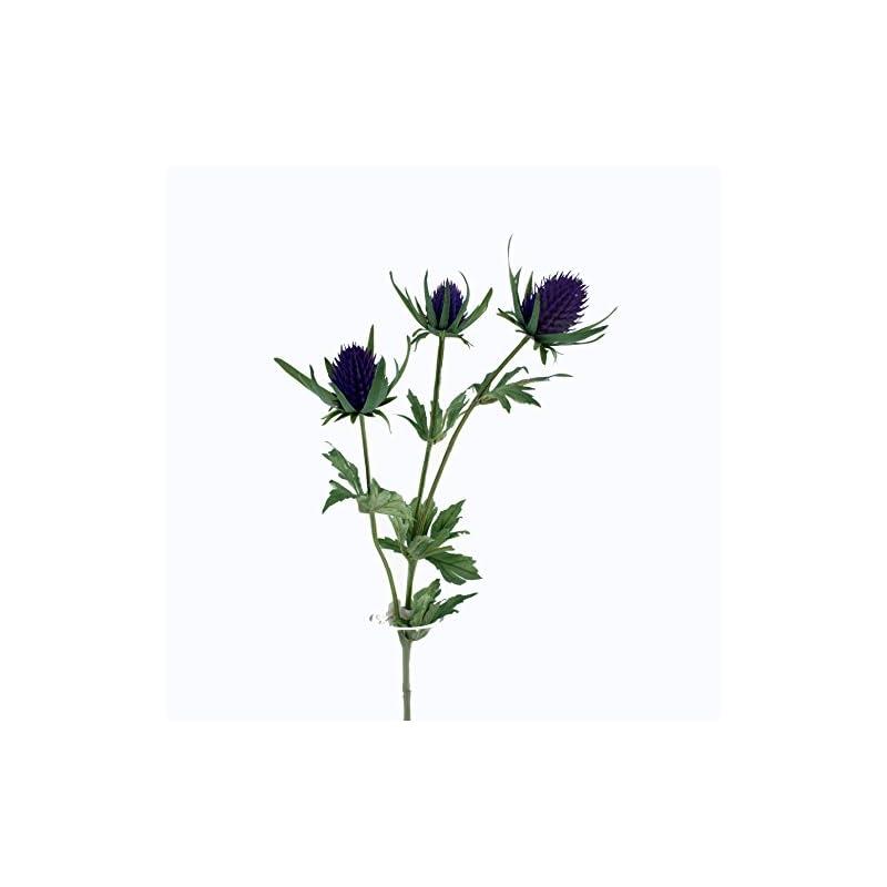 silk flower arrangements floristrywarehouse artificial thistle spray artificial 26 inches purple