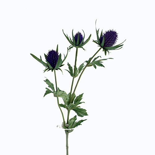 FloristryWarehouse Artificial Thistle Spray Artificial 26 Inches Purple