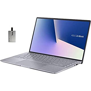 "2020 ASUS Zenbook 14"" FHD Ultra-Light&Thin Laptop Computer, AMD 4th Gen Ryzen 5-4500U, 8GB RAM, 512GB PCIe SSD, Backlit Keyboard, NVIDIA GeForce MX350, HD Webcam, Win 10, Gray, 32GB Snow Bell USB Card"