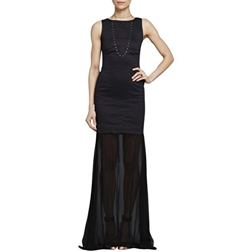 Artelier Nicole Miller Womens Metallic Cut-Out Evening Dress Black 0