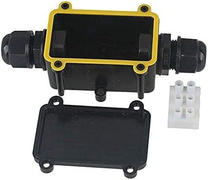 noir Bo/îte de d/érivation /étanche SENRISE IP68 Connecteurs /étanches en plastique pour /éclairage ext/érieur Noir