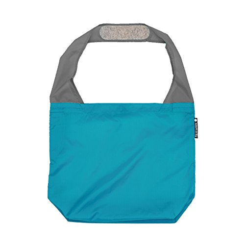 (FLIP AND TUMBLE - Premium Reusable Grocery Bag - perfect Shopping Bag, Beach Bag, Travel Bag, Marine Blue)