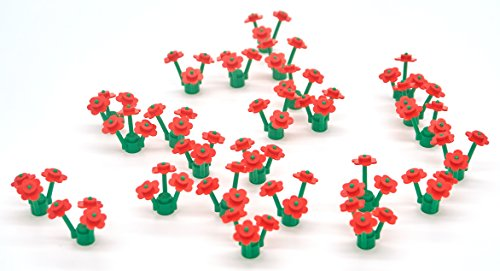25 Red LEGO Flowers (Lego Halloween Costumes)