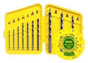 CRL 10 Piece Fractional Gauge Drill Set from 1/16