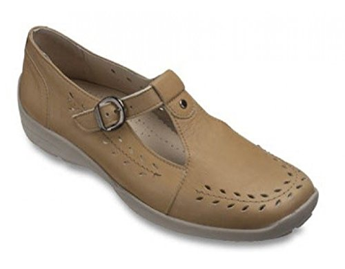 Db Shoes Ladies Extra Wide Linda 2E Sand