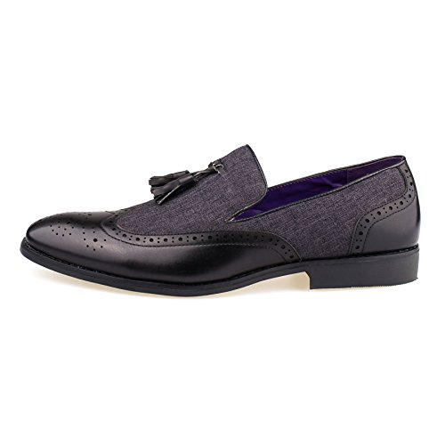 New Mens Leather Slip On Tassel Loafers Smart Brogue Casual Formal Fashion  Shoes 6-11: Amazon.co.uk: Shoes & Bags