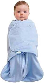 Halo SleepSack Micro-Fleece Swaddle (Baby Blue, Small)
