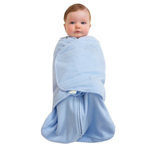 HALO SleepSack Micro-Fleece Swaddle, Baby Blue, Small]()