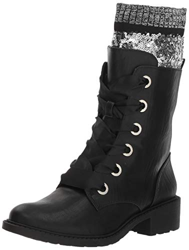 Circus by Sam Edelman Women's Dearborn Combat Boot, Black Motor, 6.5 M US (Circus By Sam Edelman Lace Up Boot)