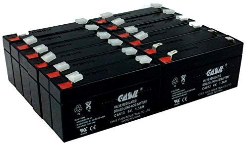 12 Pack Casil 6v 1.3ah BCI Microspan Oximeter Novametrix 444201 Panasonic LC-R061R3P Sonnenschein 7190182 A306/1.1S NGA50601D2HSOSA Tork 6100 Toyo Battery 3FM1.2 Tronix 2500 Bed Scale ()