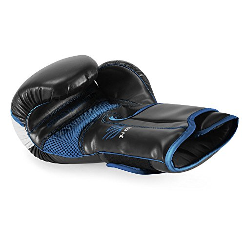Sanabul Essential Gel Boxing Kickboxing Punching Bag Gloves AllBlack 10 oz