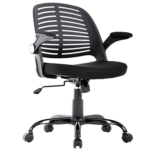 BestMassage Home Office Chair Desk Computer Ergonomic Swivel Executive Rolling Chair with Arms Lumbar Support Task Mesh Chair Heavy Duty Mid-Back Metal Chair for Women, Men