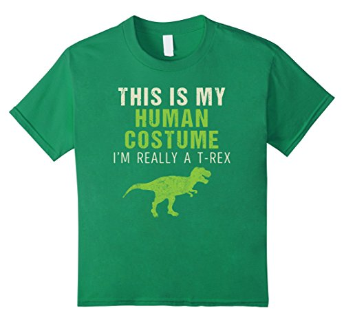 4 Guys Halloween Costume Ideas (Kids Funny I'm Really A T Rex Dinosaur Halloween Shirt Costume 4 Kelly Green)