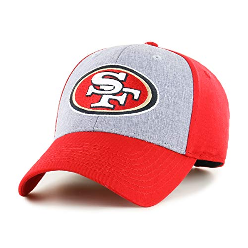 OTS NFL San Francisco 49Ers Male Essential All-Star Adjustable Hat, Red, One Size