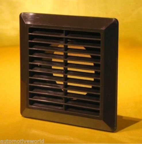 Brown Ducting Ventilation Cover 125mm / 5' with Fly Screen and Round Duct Connection White Air Vent Grille P30BR Armar Trading Ltd