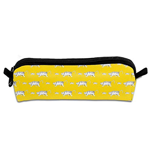 (Prowling Tiger in A Yellow Desert Novelty Colored Quality Zipper Travel Storage Makeup Cosmetic Bag Purse)