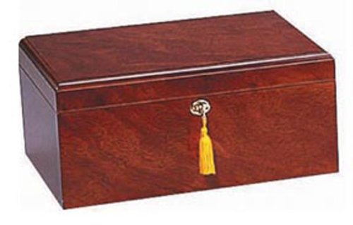 Quality Importers Milano 75-100 Cigar Humidor, Rosewood