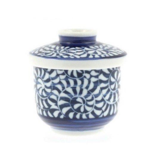 Blue & White Chawanmushi Lidded Bowl by NAC (Image #1)