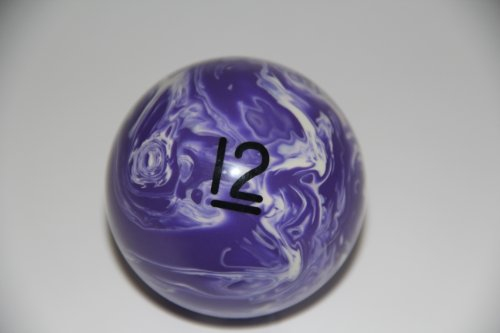 Epco Replacement Ball #12 Marbleized Billiard or Pool Set, 5.75oz, 2.25